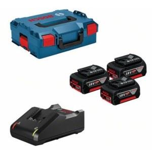 Tilbehørssæt Bosch 0615990L3T; 18V; 3x5,0 Ah + lader GAL18V-40 for batteriverktøy