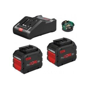 Tilbehørssæt Bosch GBA ProCORE 18 V; 2x12,0 Ah batteri + oplader GAL 18V-160C + modul GCY 42