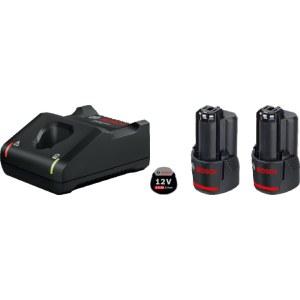 Tilbehørssæt Bosch GBA; 12 V; 2x2,0 Ah + lader GAL 12V-40