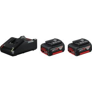 Tilbehørssæt Bosch GBA; 18 V; 2x4,0 Ah + lader GAL 18V-40