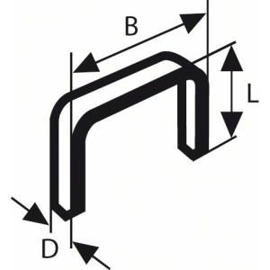 Klammer Bosch; 11,4x6 mm; 1000 stk; TYPE 53; stål