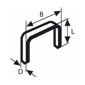 Klammer Bosch; 11,4x8 mm; 1000 stk; TYPE 53; stål