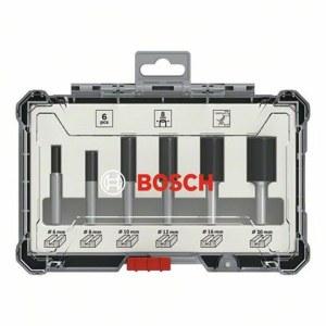 Fræsersæt Bosch Straight; 8 mm; 6 stk.
