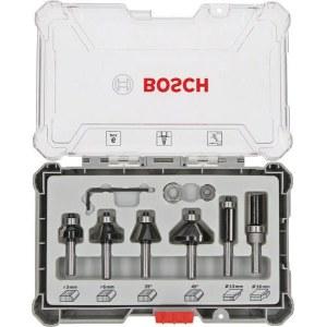 Fræsersæt Bosch Trim&Edging; 8 mm; 6 stk.