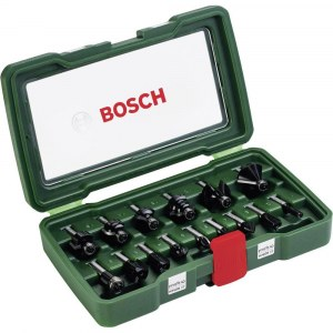 Fræsersæt Bosch; 15 stk.