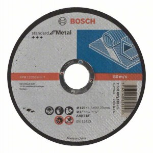 Skæreskive Bosch Standard; 125x1,6 mm