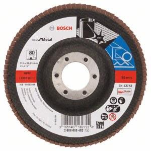 Fanformet slibeskive Bosch Best for Metal; 115 mm