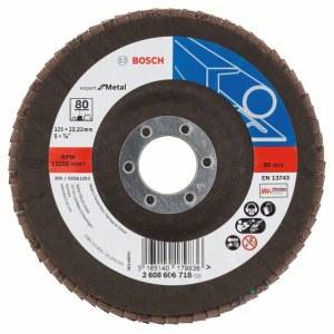 Fanformet slibeskive Bosch Expert for Metal; 125 mm
