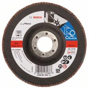 Fanformet slibeskive Bosch Best for Metal; 125 mm