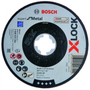Slibeskive Bosch Expert for Metal; Ø125x1,6 mm