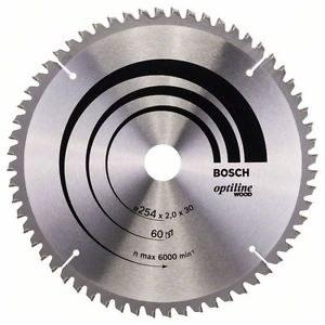 Rundsavsklinge til træ Bosch; OPTILINE WOOD; Ø254 mm