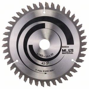Rundsavsklinge til træ Bosch MULTI MATERIAL; 160x2,4x20,0 mm; Z42; -5°