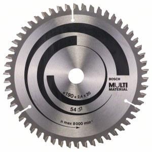 Rundsavsklinge til træ Bosch MULTI MATERIAL; 190x2,4x20,0 mm; Z54; -5°