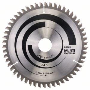 Rundsavsklinge til træ Bosch MULTI MATERIAL; 190x2,4x30,0 mm; Z54; -5°