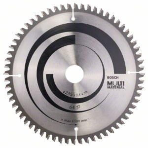 Rundsavsklinge til træ Bosch MULTI MATERIAL; 235x2,4x30,0 mm; Z64; -5°