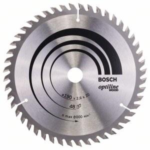 Rundsavsklinge til træ Bosch OPTILINE WOOD; 190x2,6x20,0 mm; Z48; 15°