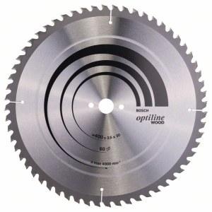 Rundsavsklinge til træ Bosch OPTILINE WOOD; 400x3,5x30,0 mm; Z60; 10°