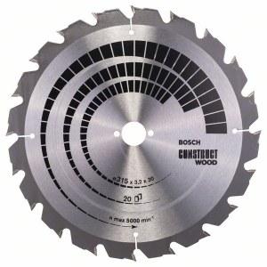 Rundsavsklinge til træ Bosch; CONSTRUCT WOOD; Ø315 mm