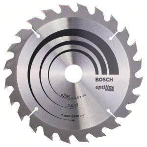 Rundsavsklinge til træ Bosch OPTILINE WOOD; 235x2,8x30,0 mm; Z24; 15°