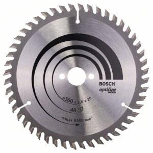 Rundsavsklinge til træ Bosch OPTILINE WOOD; 160x2,6x20,0 mm; Z48; 15°