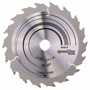 Rundsavsklinge til træ Bosch SPEEDLINE WOOD; 130x2,2x16,0 mm; Z18; 15°