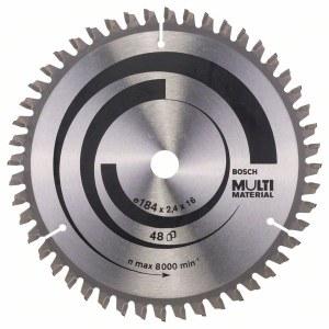 Rundsavsklinge til træ Bosch MULTI MATERIAL; 184x2,4x16,0 mm; Z48; -5°