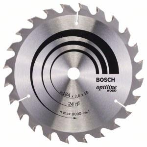Rundsavsklinge til træ Bosch; OPTILINE WOOD; Ø184 mm