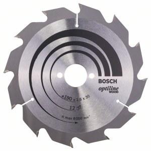 Rundsavsklinge til træ Bosch; OPTILINE WOOD; Ø190 mm