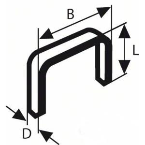 Klammer Bosch; 10,6x8 mm; 1000 stk; TYPE 59; stål