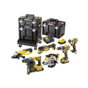 Værktøjssæt Dewalt DCK654P3T (DCD796+DCF887+DCG412+DCS355+DCS391+DCB273); 18 V; 3x5,0 Ah batt.