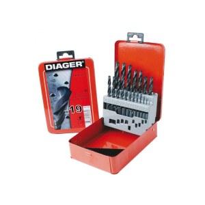 Metalborsæt Diager 775D; 1-10 mm; 19 stk.