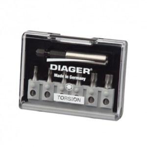 Skruetrækker Bit Tilbehørssæt Diager U642C; TX; 6  stk. + holder