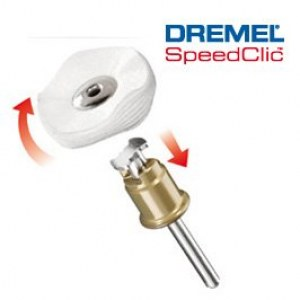 SpeedClic polering klud disk Dremel 423S, 3,2 mm, 25,0 mm