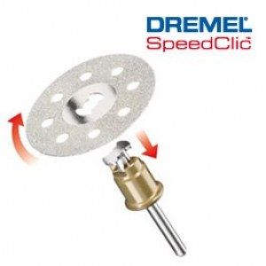 SpeedClic diamantskæreskive Dremel SC545, 38,0 mm
