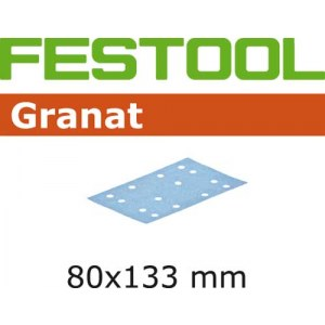 Sandpapir til kredsløbssander Granat; 80x133 mm; P80; 10 stk.