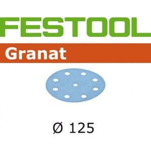 Sandpapir til excentersliber Granat; 125 mm; P1200; 50 stk.