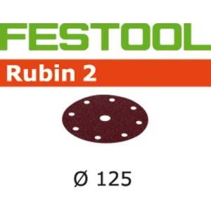 Sandpapir til excentersliber Rubin2; 125 mm; P180; 10 stk.