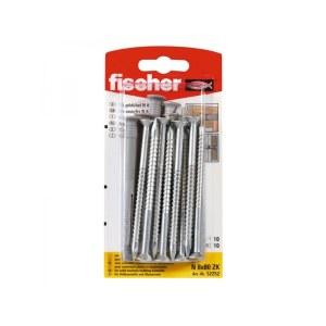 Selvskrue skrue med pin Fischer N; 8x80 mm