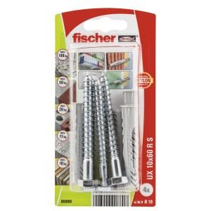 Selvskrue skrue med pin Fischer UX R S; 10x60 mm; 4 stk.