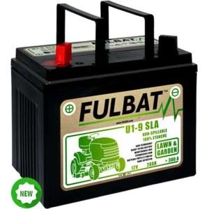 Batteri til plæneklipper Fulbat U1-9 SLA; 12 V; 28 Ah passer til Husqvarna, Partner, McCulloch