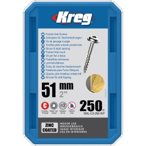 Træskrue Kreg SML-C2; Maxi-Loc; 2,00''; 51 mm; 250 stk.