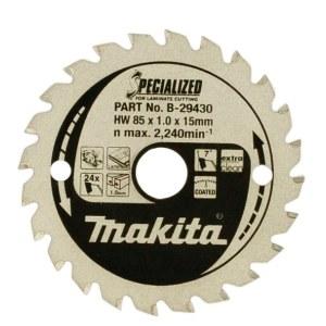 Rundsavsklinge til laminat  Makita; 85x1x15,0 mm; Z24; 7°