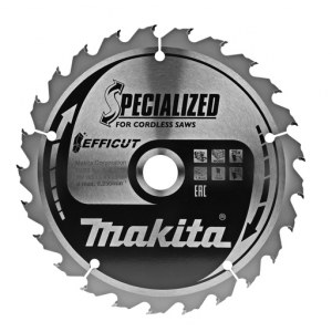 Rundsavsklinge til træ Makita EFFICUT; 165x1,4x20,0 mm; Z25; 23°
