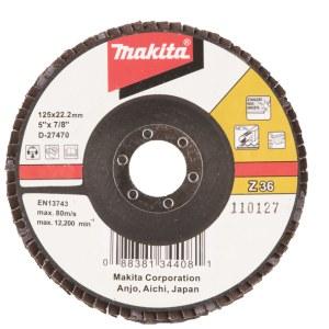 Fanformet slibeskive Makita D-27470; 125 mm