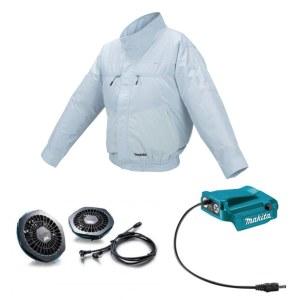 Ventilationsjakke Makita DFJ206Z2XL; 12/14,4/18 V; 2XL; (uden batteri og oplader)