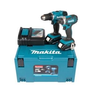 Værktøjssæt Makita DLX2141AJ (DDF453+DTD152); 18 V; 2x2,0 Ah batt.