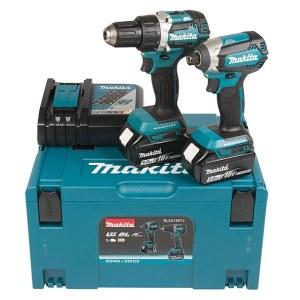 Værktøjssæt Makita DLX2189TJ (DDF484+DTD153); 18 V; 2x5,0 Ah batt.