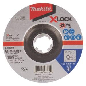 Slibeskive Makita X-Lock; 125x6 mm