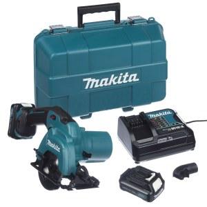 Batteridrevet rundsav Makita HS301DSAE; 10,8 V; 2x2,0 Ah batt.