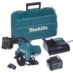 Batteridrevet rundsav Makita HS301DSME; 10,8 V; 2x4,0 Ah batt.